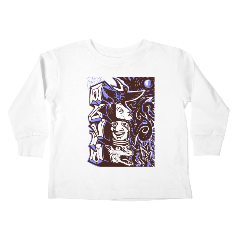 totem blue Kids Toddler Longsleeve T-Shirt by truthpup's Artist Shop