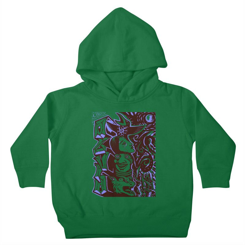 totem blue Kids Toddler Pullover Hoody by truthpup's Artist Shop