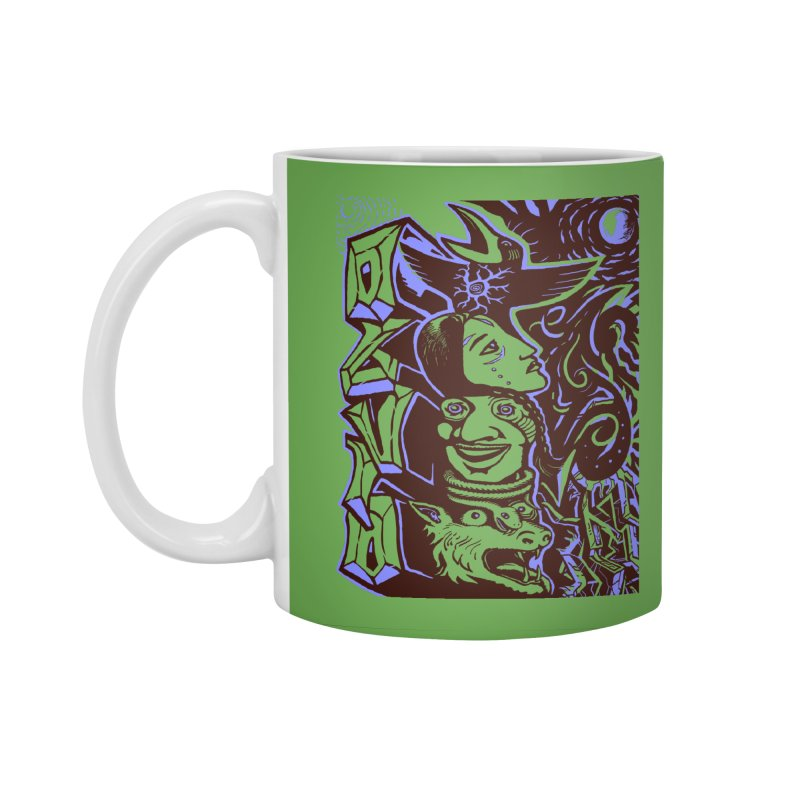 totem blue Accessories Standard Mug by truthpup's Artist Shop
