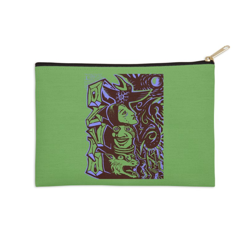 totem blue Accessories Zip Pouch by truthpup's Artist Shop