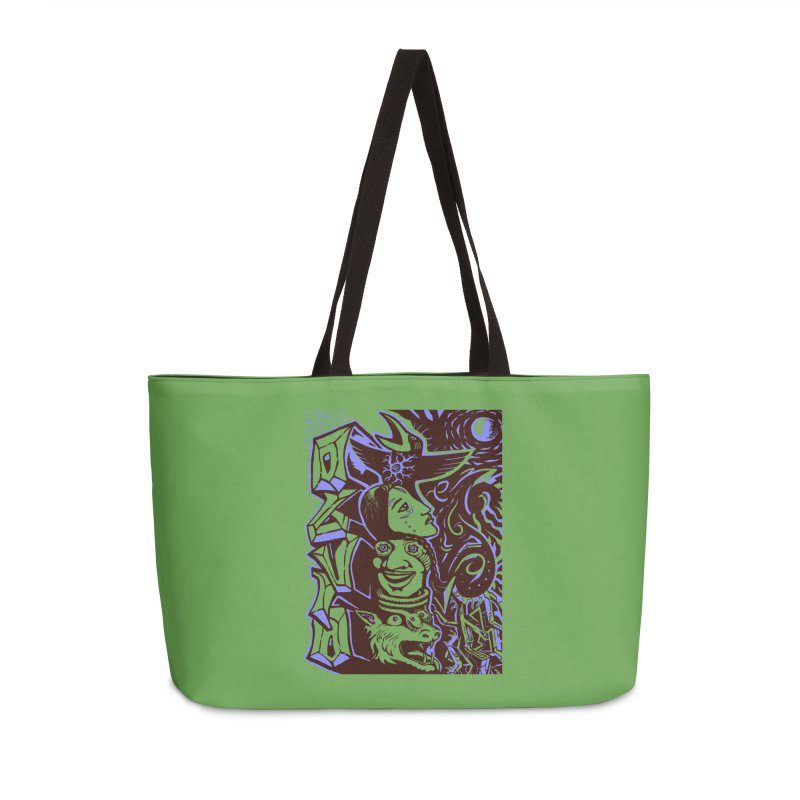 totem blue Accessories Weekender Bag Bag by truthpup's Artist Shop