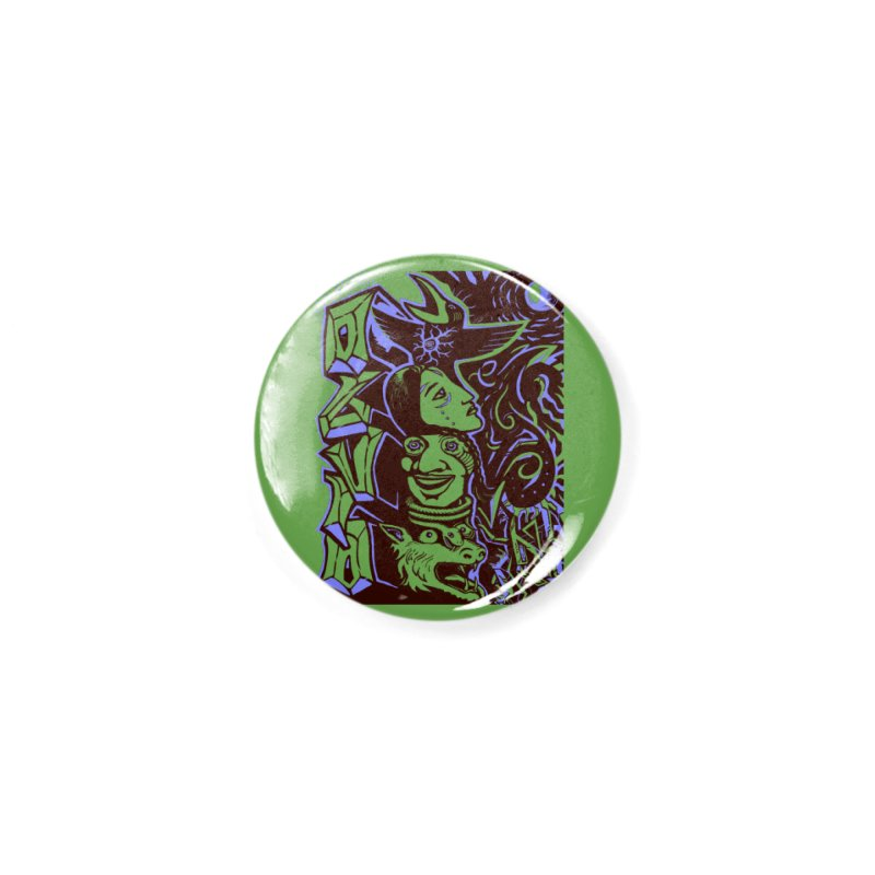 totem blue Accessories Button by truthpup's Artist Shop