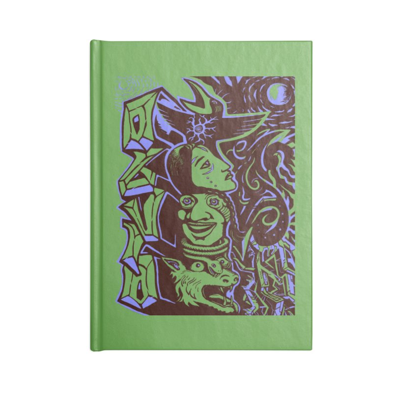 totem blue Accessories Lined Journal Notebook by truthpup's Artist Shop
