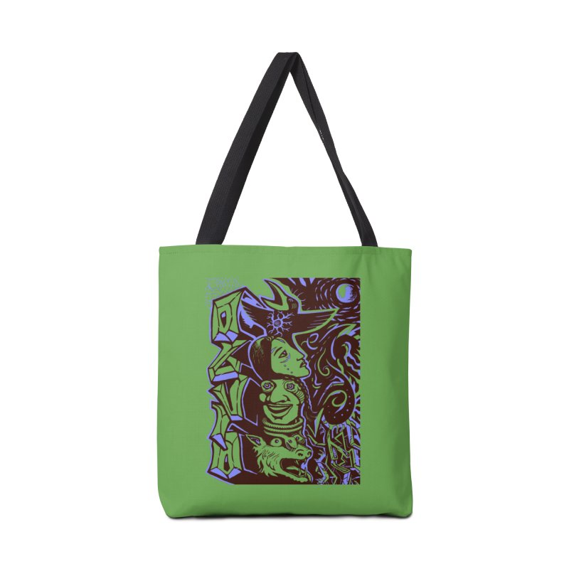 totem blue Accessories Tote Bag Bag by truthpup's Artist Shop