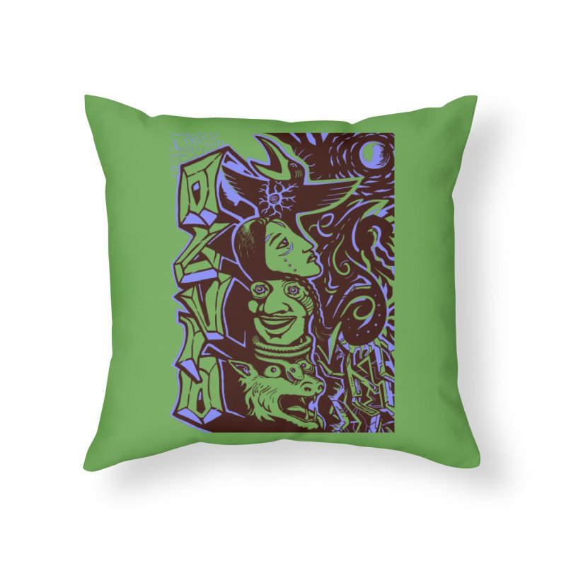 totem blue Home Throw Pillow by truthpup's Artist Shop