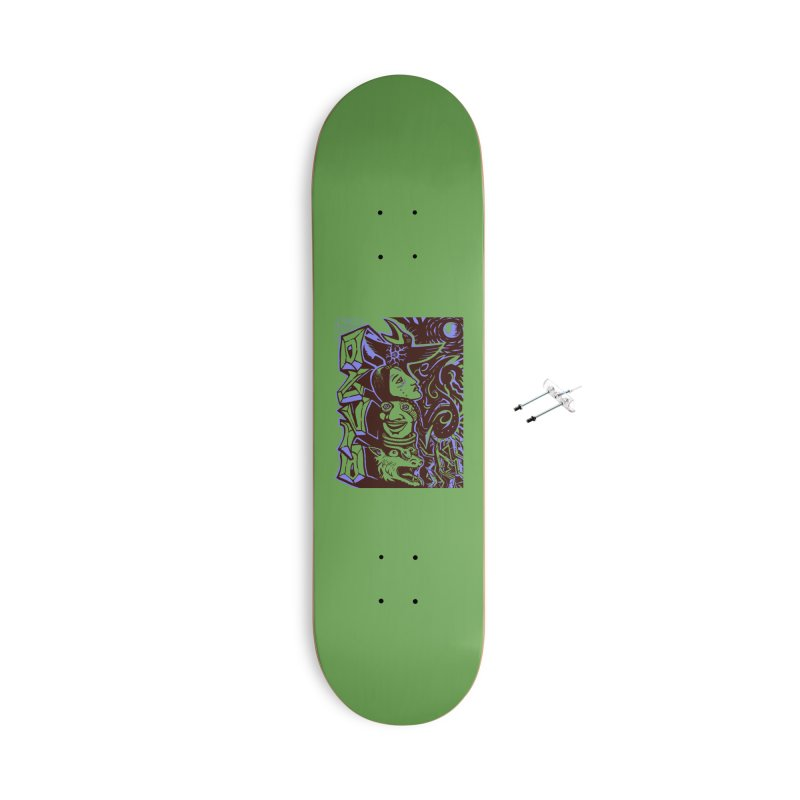 totem blue Accessories With Hanging Hardware Skateboard by truthpup's Artist Shop