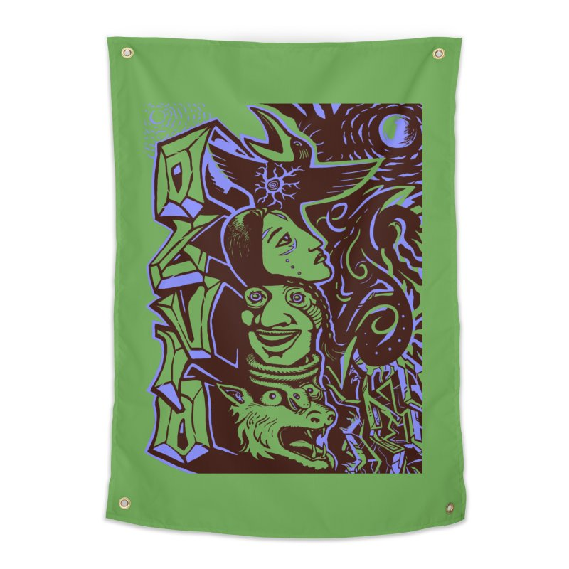 totem blue Home Tapestry by truthpup's Artist Shop