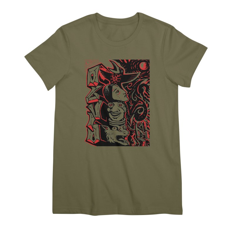 totem red Women's Premium T-Shirt by truthpup's Artist Shop
