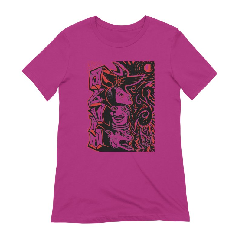 totem red Women's Extra Soft T-Shirt by truthpup's Artist Shop