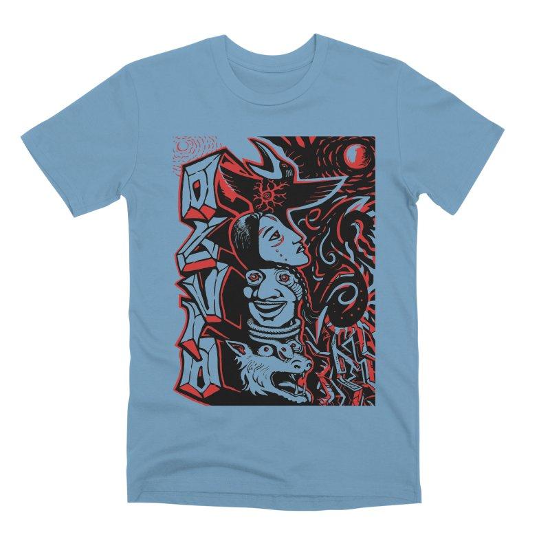totem red Men's Premium T-Shirt by truthpup's Artist Shop