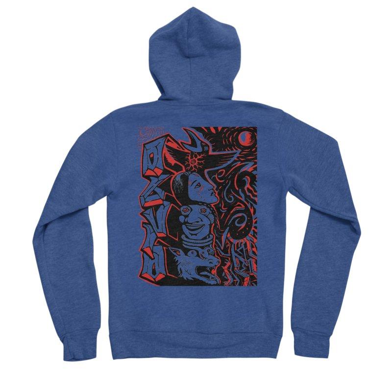 totem red Women's Sponge Fleece Zip-Up Hoody by truthpup's Artist Shop
