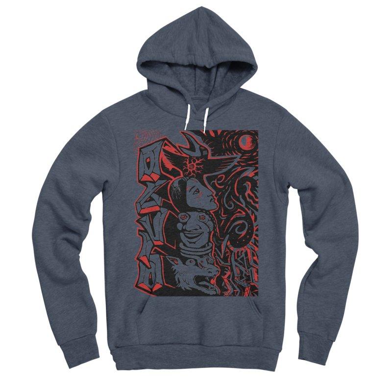 totem red Men's Sponge Fleece Pullover Hoody by truthpup's Artist Shop
