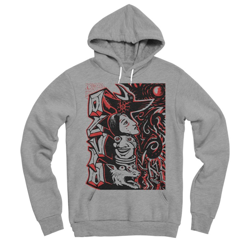 totem red Women's Sponge Fleece Pullover Hoody by truthpup's Artist Shop