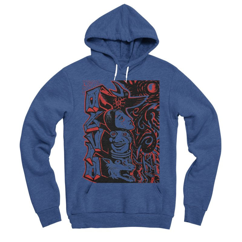 totem red Men's Sponge Fleece Pullover Hoody by truthpup's Artist Shop