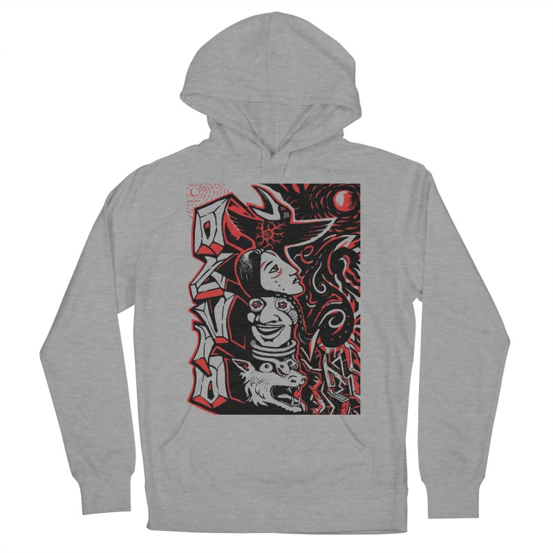 totem red Women's French Terry Pullover Hoody by truthpup's Artist Shop