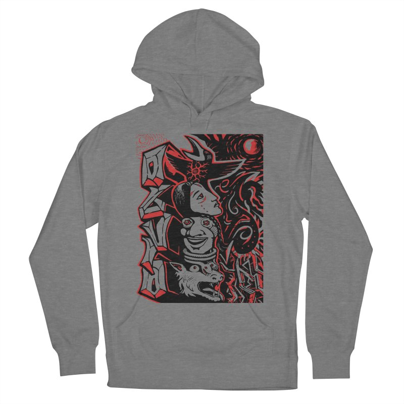 totem red Men's French Terry Pullover Hoody by truthpup's Artist Shop