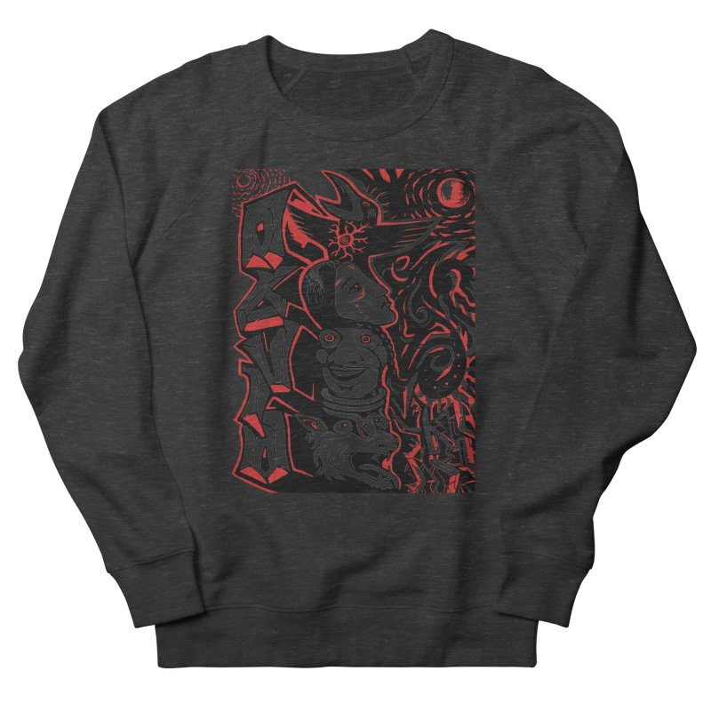 totem red Women's French Terry Sweatshirt by truthpup's Artist Shop