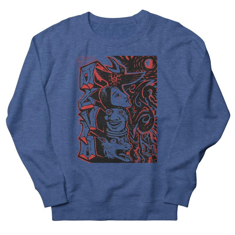 totem red Men's French Terry Sweatshirt by truthpup's Artist Shop