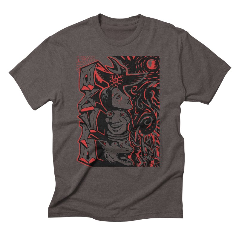 totem red Men's Triblend T-Shirt by truthpup's Artist Shop