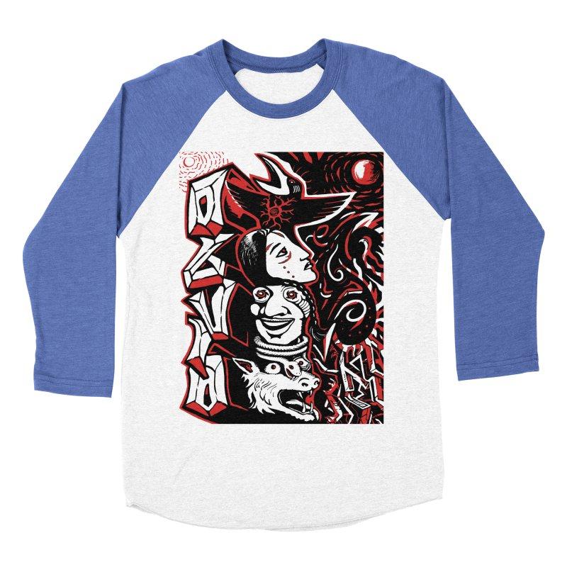 totem red Women's Baseball Triblend Longsleeve T-Shirt by truthpup's Artist Shop