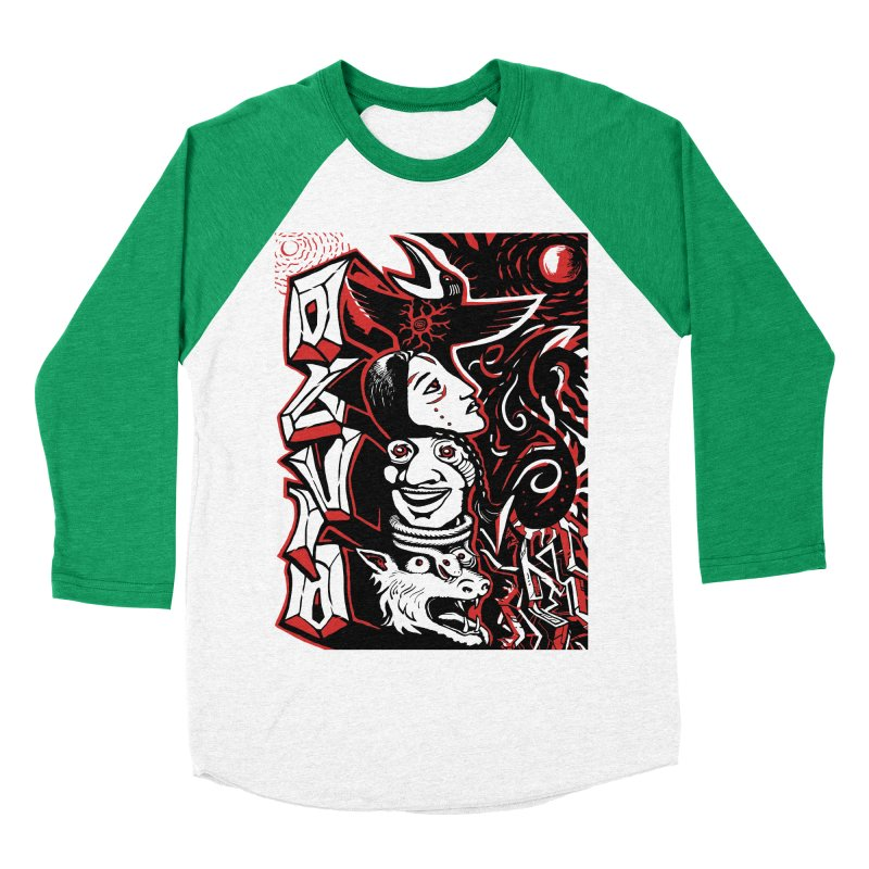 totem red Men's Baseball Triblend Longsleeve T-Shirt by truthpup's Artist Shop