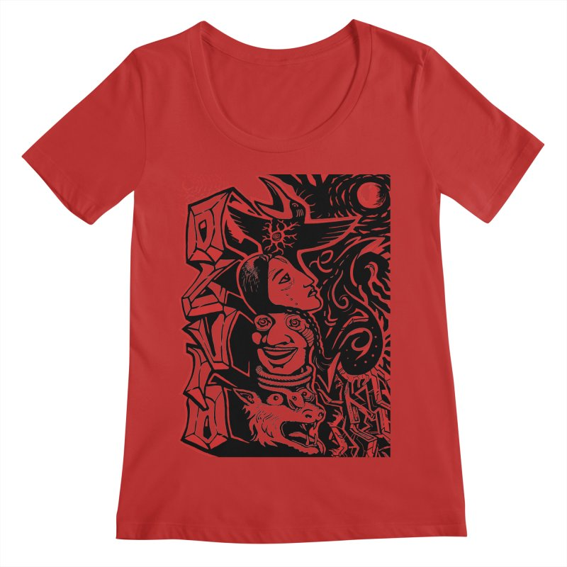 totem red Women's Regular Scoop Neck by truthpup's Artist Shop
