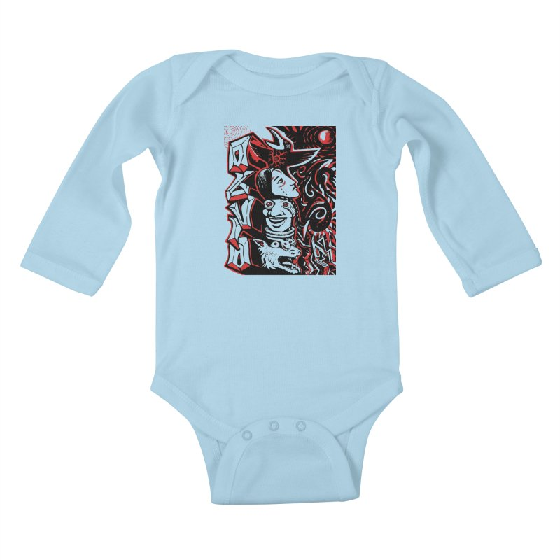 totem red Kids Baby Longsleeve Bodysuit by truthpup's Artist Shop