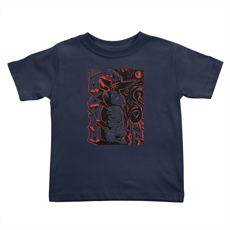 totem red Kids Toddler T-Shirt by truthpup's Artist Shop