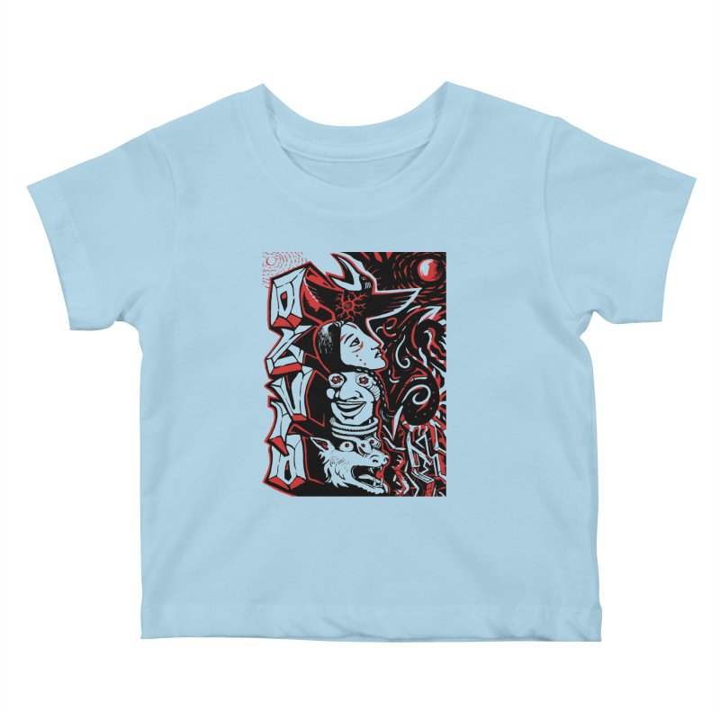totem red Kids Baby T-Shirt by truthpup's Artist Shop