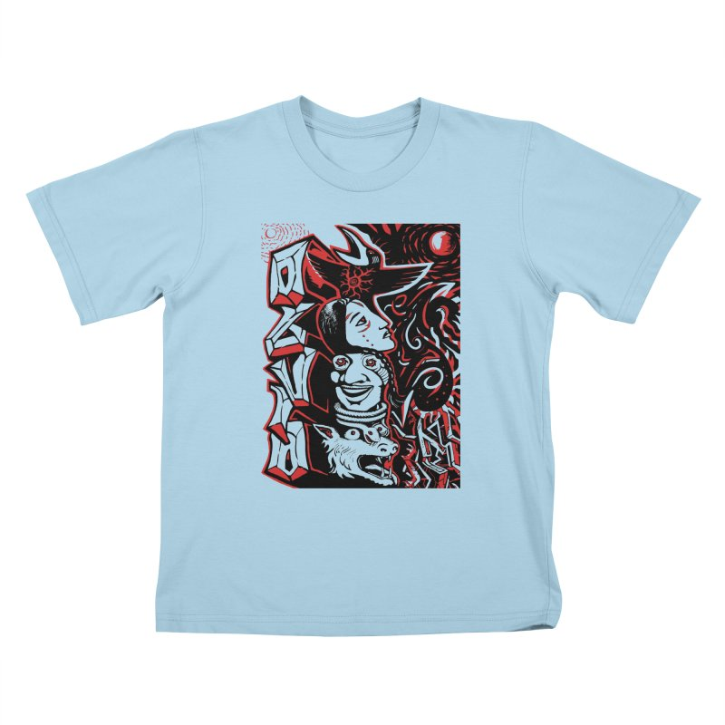 totem red Kids T-Shirt by truthpup's Artist Shop