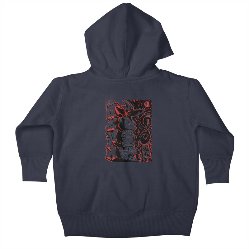totem red Kids Baby Zip-Up Hoody by truthpup's Artist Shop