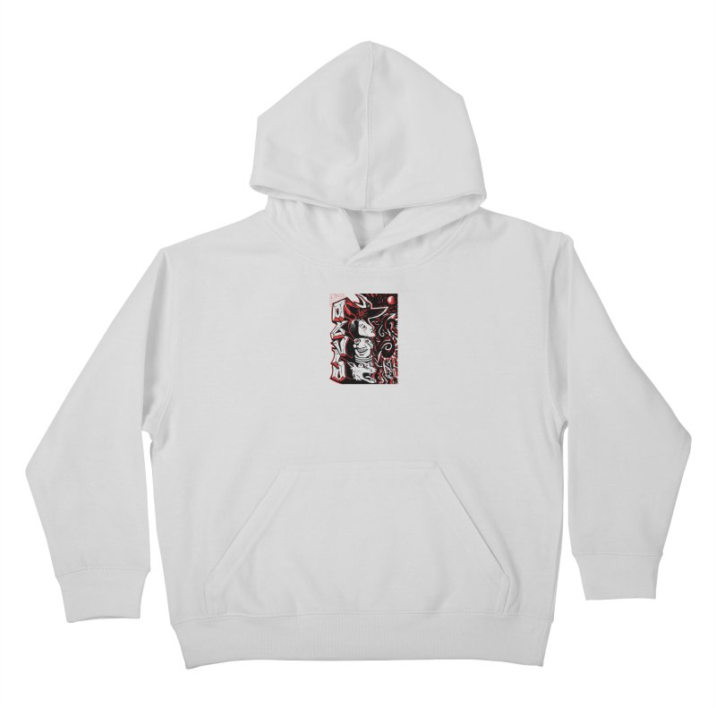 totem red Kids Pullover Hoody by truthpup's Artist Shop