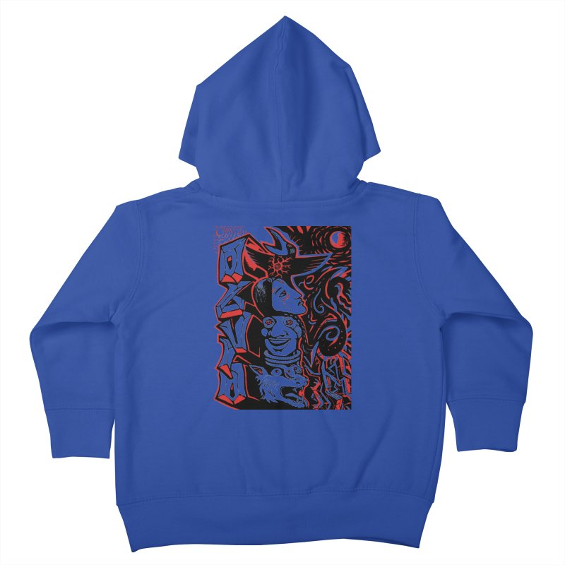 totem red Kids Toddler Zip-Up Hoody by truthpup's Artist Shop