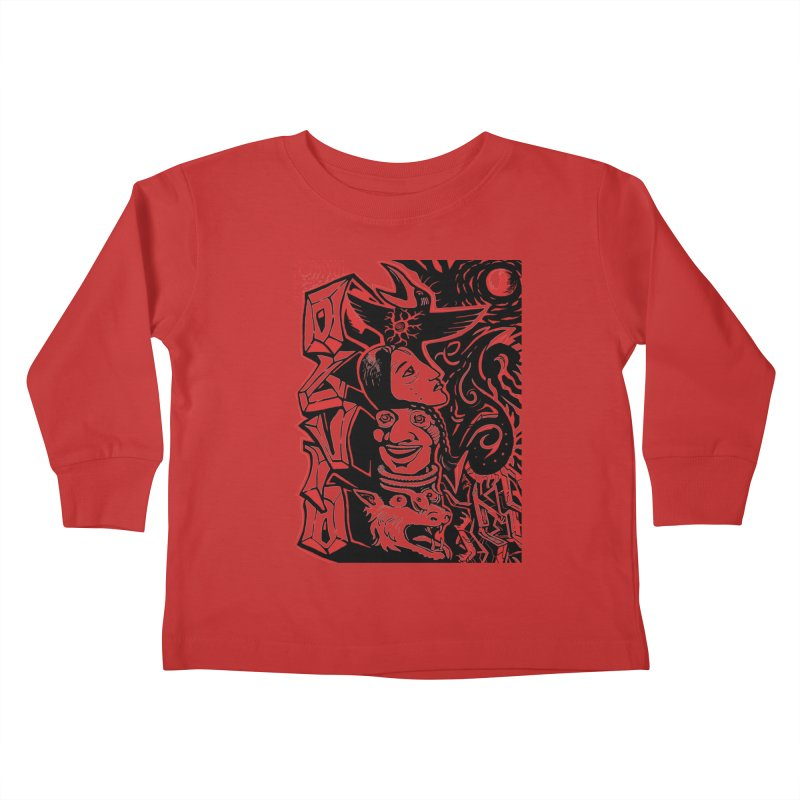 totem red Kids Toddler Longsleeve T-Shirt by truthpup's Artist Shop