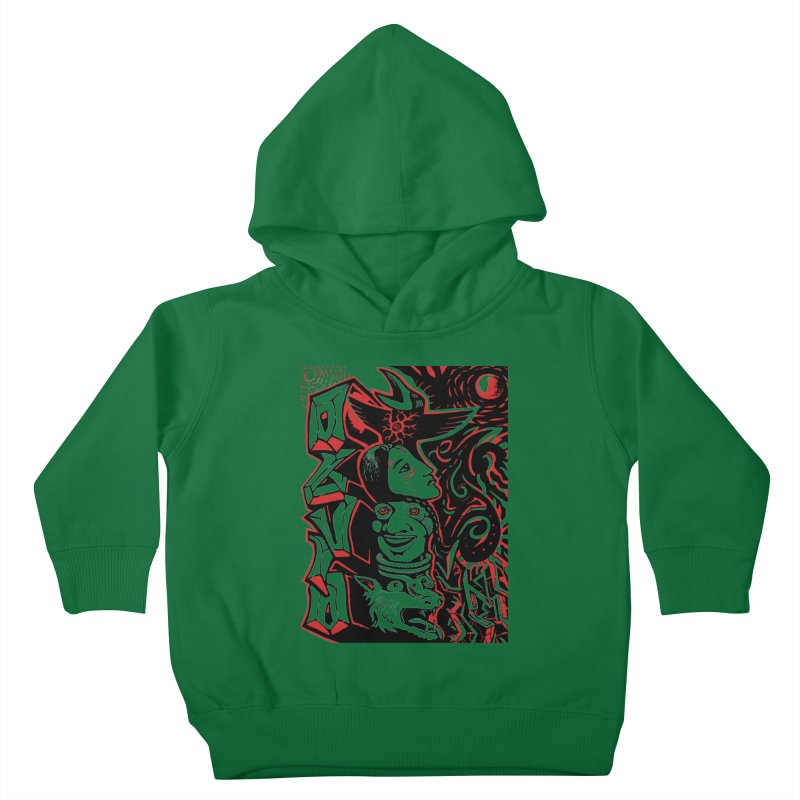 totem red Kids Toddler Pullover Hoody by truthpup's Artist Shop