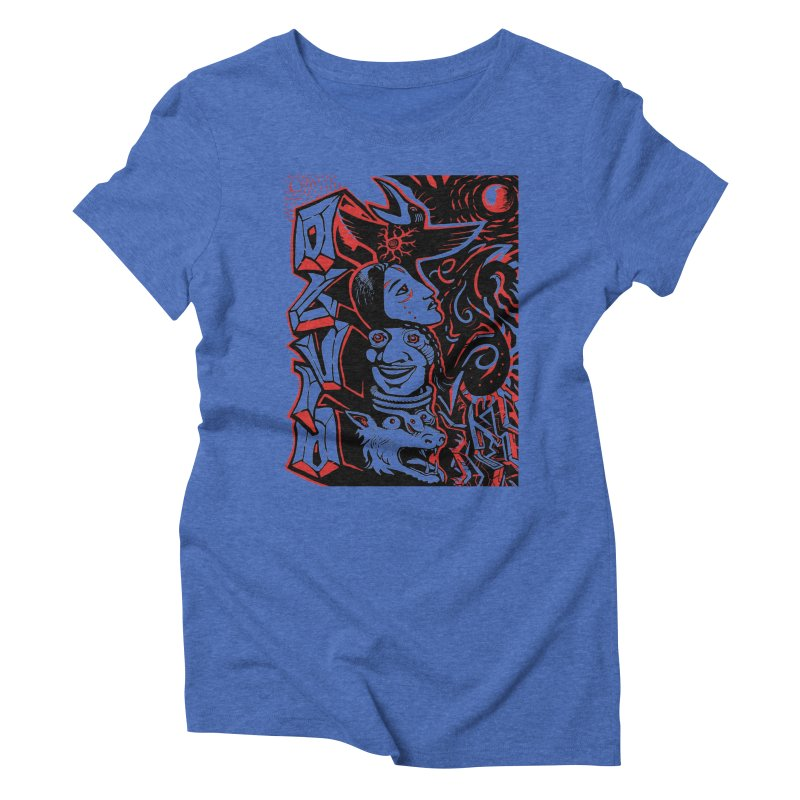 totem red Women's Triblend T-Shirt by truthpup's Artist Shop