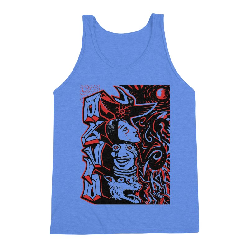 totem red Men's Triblend Tank by truthpup's Artist Shop