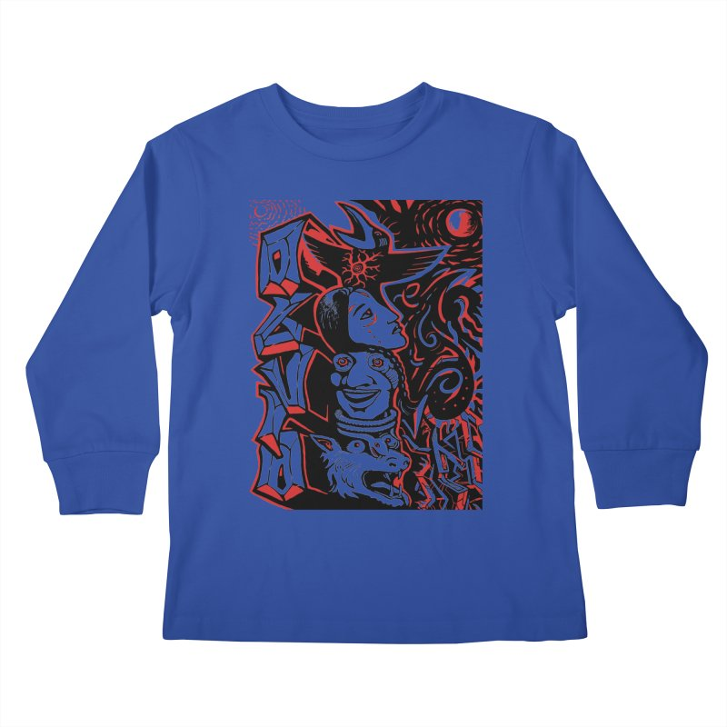totem red Kids Longsleeve T-Shirt by truthpup's Artist Shop