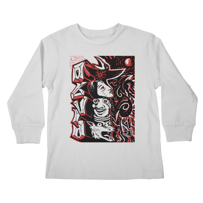 totem red Kids Longsleeve T-Shirt by truthpup's Artist Shop