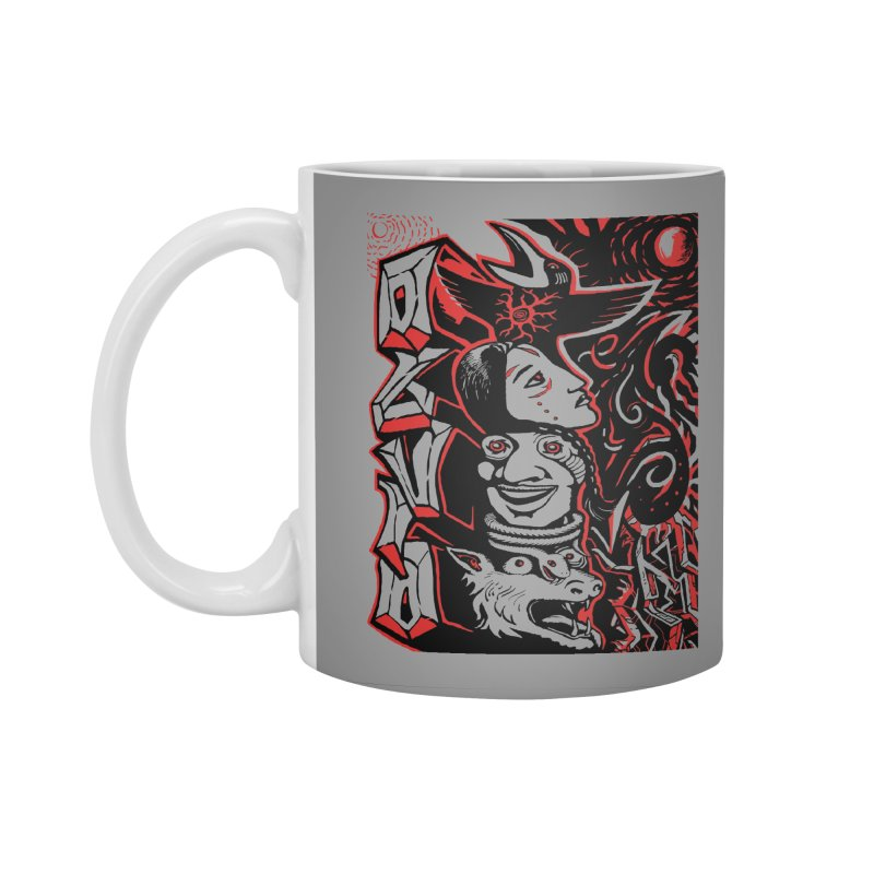 totem red Accessories Standard Mug by truthpup's Artist Shop