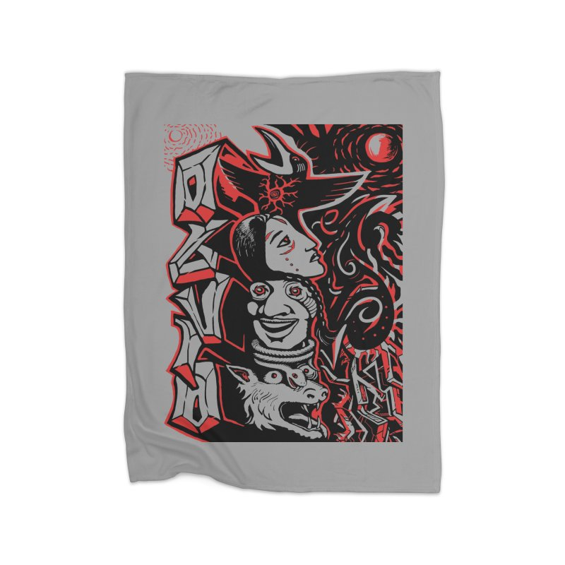 totem red Home Fleece Blanket Blanket by truthpup's Artist Shop
