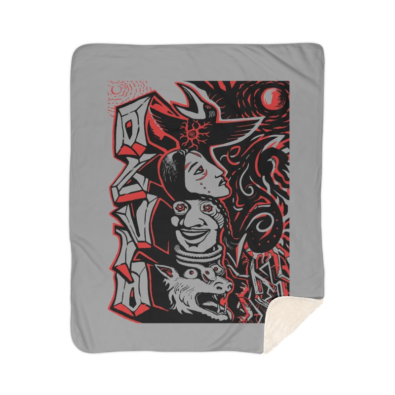 totem red Home Sherpa Blanket Blanket by truthpup's Artist Shop