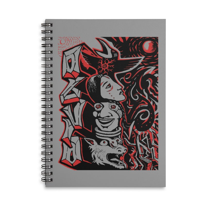 totem red Accessories Lined Spiral Notebook by truthpup's Artist Shop