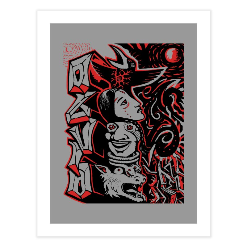 totem red Home Fine Art Print by truthpup's Artist Shop