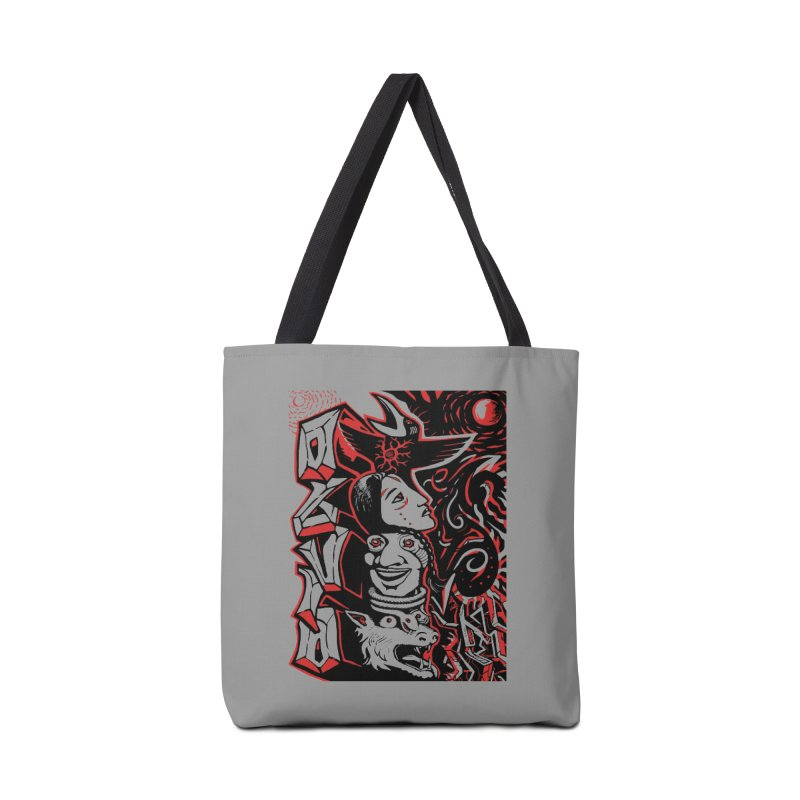 totem red Accessories Tote Bag Bag by truthpup's Artist Shop