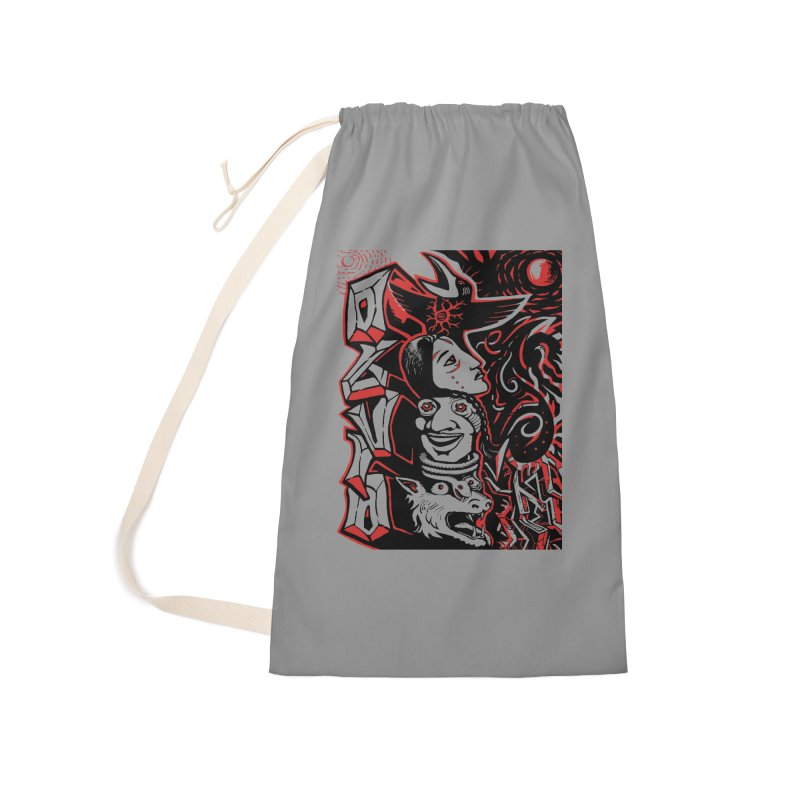 totem red Accessories Laundry Bag Bag by truthpup's Artist Shop