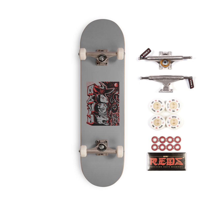 totem red Accessories Complete - Pro Skateboard by truthpup's Artist Shop