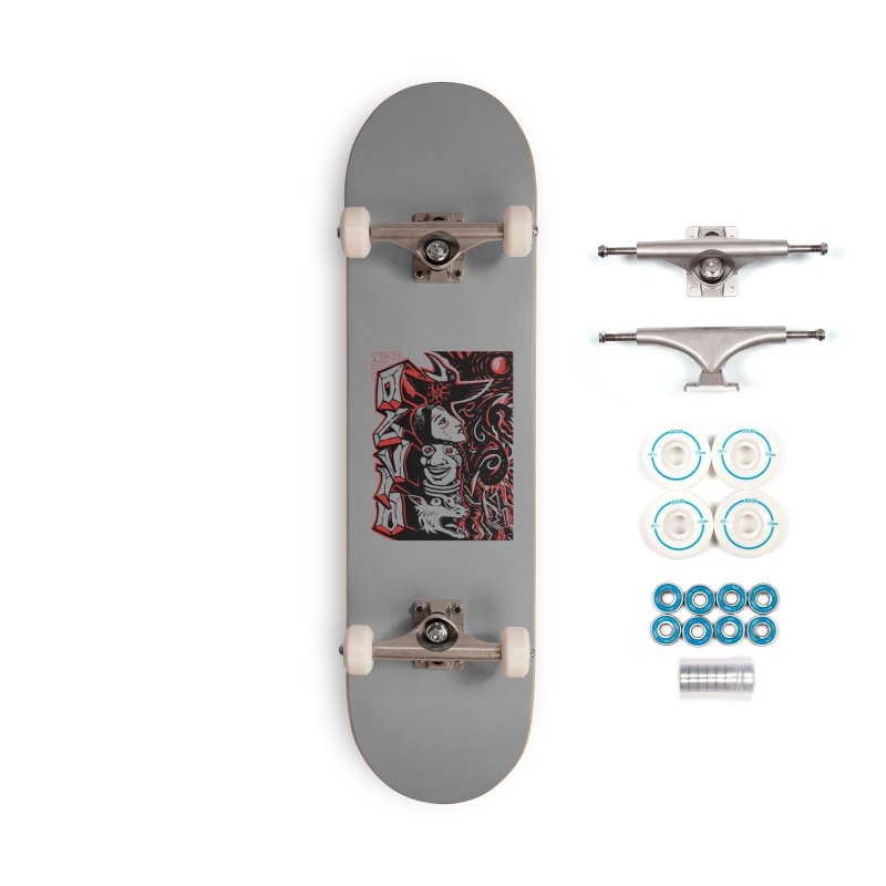 totem red Accessories Complete - Basic Skateboard by truthpup's Artist Shop
