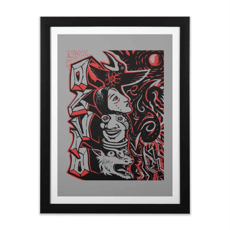totem red Home Framed Fine Art Print by truthpup's Artist Shop