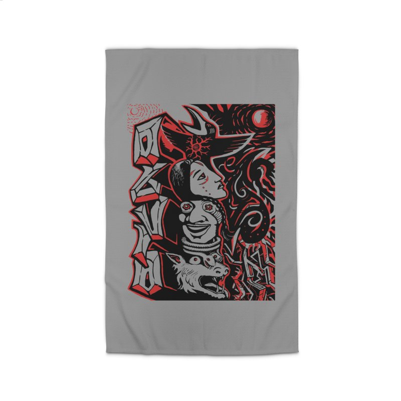 totem red Home Rug by truthpup's Artist Shop